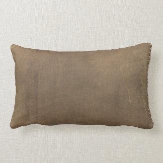 Soft Tan Leather Lumbar Pillow