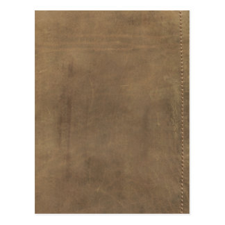 Soft Tan Leather Postcard