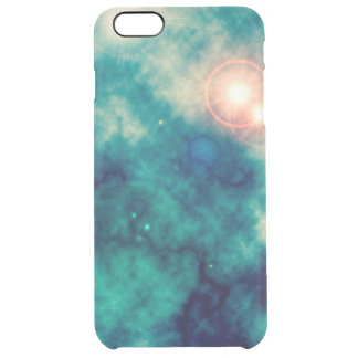 Soft Teal Blue Space Diffuse Nebula and Supernova Clear iPhone 6 Plus Case
