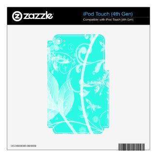 soft teal dragonlfy background decal for iPod touch 4G