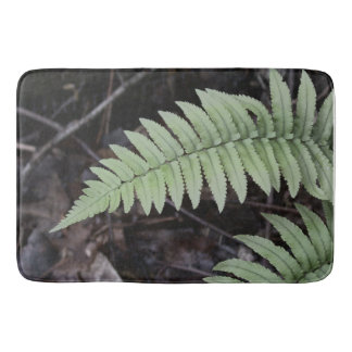 Soft Tint Ferns and Leaves Bathroom Mat