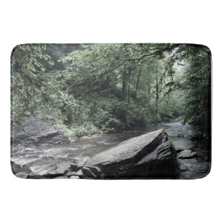 Soft Tint River Rock in the Woods Bath Mat