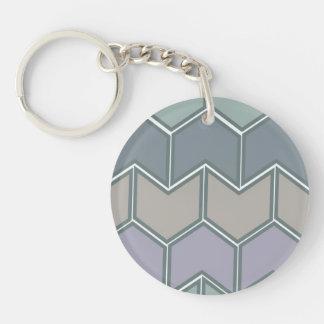 Soft Tone Pattern Keychain