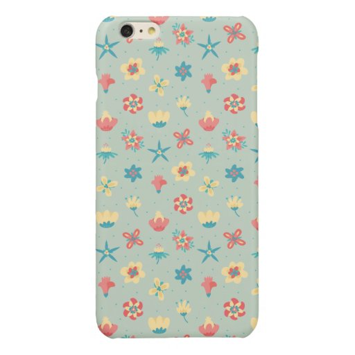 SOFT TONES FLORAL PATTERN GLOSSY iPhone 6 PLUS CASE