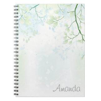 Soft Trees & Leaves Notebook