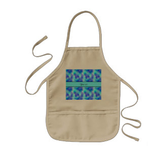 Soft Tropical Swirls Kids' Apron