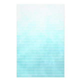 Soft Varigated Blue With Lines Stationery