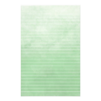 Soft Varigated Green With Lines Stationery