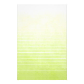Soft Varigated Lime Green With Lines Stationery
