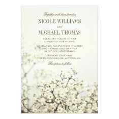 Soft Vintage Baby's Breath Wedding Invitations at Zazzle