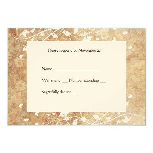 Soft Vintage Floral rsvp with envelopes Card
