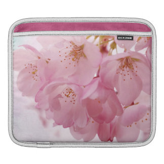 Soft Vintage Pink Cherry Blossoms iPad Sleeves