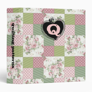 soft vintage roses patchwork quilting pattern binder