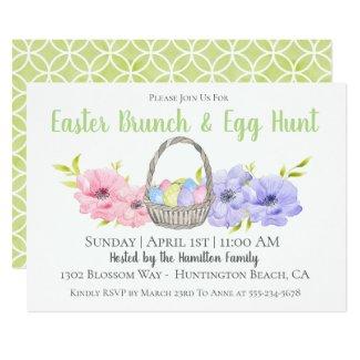 Soft Watercolor Easter Brunch Egg Hunt Invitation