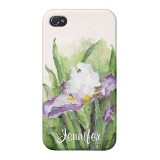 Soft Watercolor Iris iPhone 4 Case