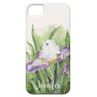 Soft Watercolor Iris iPhone 5 Case