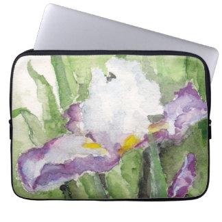 Soft Watercolor Iris Laptop Sleeve