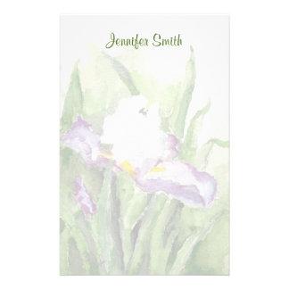 Soft Watercolor Iris Stationery