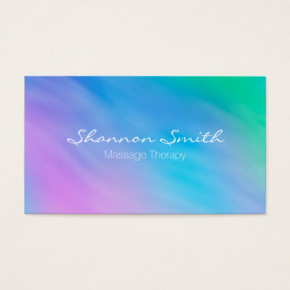 Soft Watercolor Rainbow Sky Minimal Business Cards