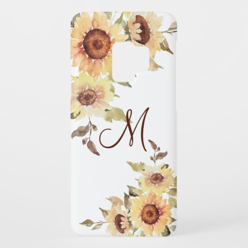 Soft Watercolor Sunflowers and Greenery Case-Mate Samsung Galaxy S9 Case