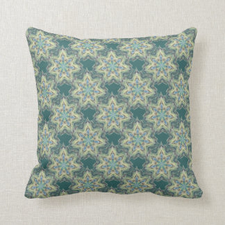 Soft Watercolor Teal shade Star Pattern Pillow