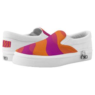 Soft Waves gradients orange magenta + your ideas Slip-On Sneakers