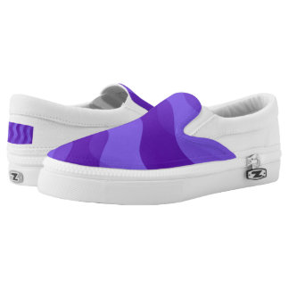 Soft Waves gradients violet + your ideas Slip-On Sneakers