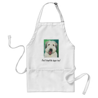 Soft Wheaton Terrier dog images Adult Apron