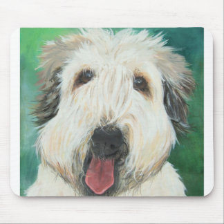 Soft Wheaton Terrier dog images Mouse Pad