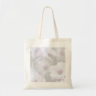 Soft White And Pink Petunias Tote Bag