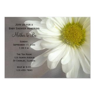 Soft White Daisy Baby Shower Invitation