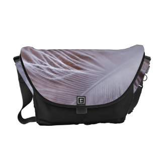 Soft white feather macro photography messenger bags