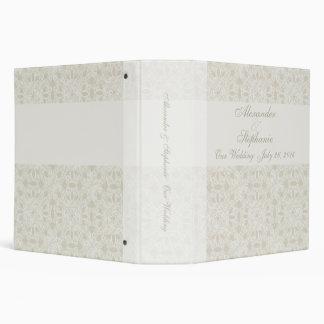 Soft White Lace Wedding Portfolio Event Binder