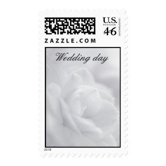 Soft white petals ... postage stamp stamp