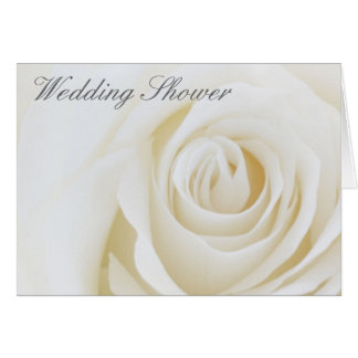 Soft White Rose, Wedding Shower Greeting Card