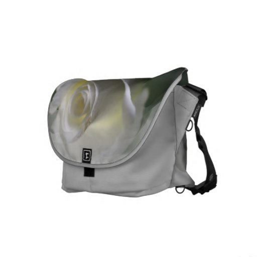 Soft White Roses messenger bag