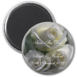 Soft White Roses, Save the Date Magnet