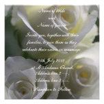 Soft White Roses Wedding Invitation