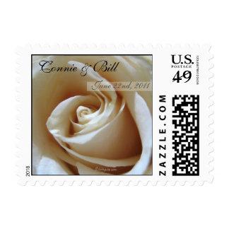 Soft White  Wedding Rose Custom Postage