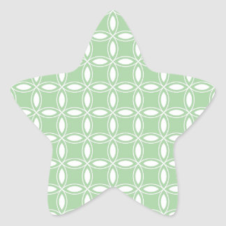 Soft Willow Green & White Pattern Image 36 Star Sticker
