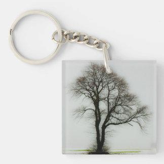 Soft winter tree keychain