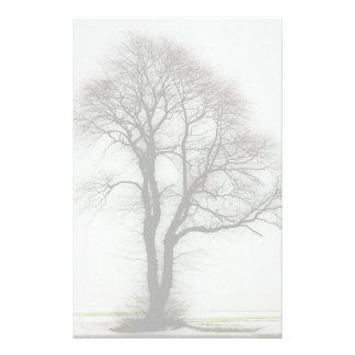 Soft winter tree stationery