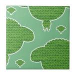 Soft wooly sheep green keramische tegeltjes