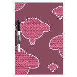 Soft wooly sheep pink dry erase whiteboards