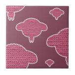 Soft wooly sheep pink tegeltje