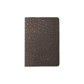 Soft Worn Brown Leather Design Passport Holder