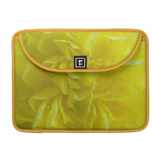 soft yellow begonia flower petals. sleeves for MacBooks