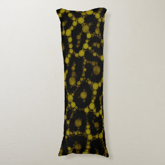 Soft Yellow Cheetah Abstract Body Pillow
