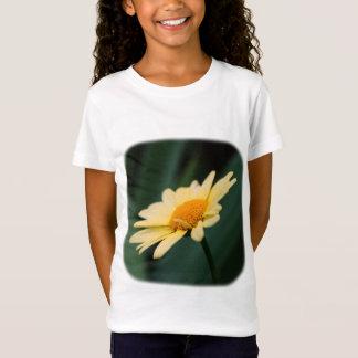 Soft Yellow Daisy Floral Nature Girls T-Shirt