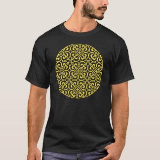 Soft Yellow Geometric Lace T-Shirt